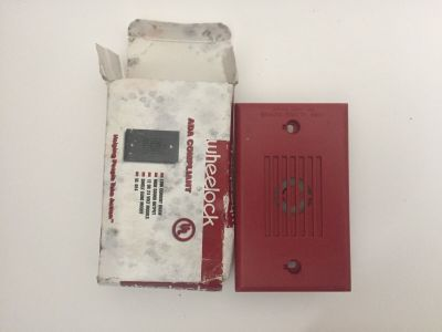 *NIB* *New* Wheelock MIZ-24S-R Fire Alarm Mini Horn
