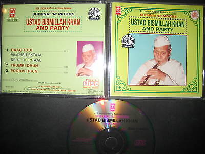 CD Ustad Bismillah Khan & Party Shehnai n Moods Indian Classical Kesarbai Kerkar