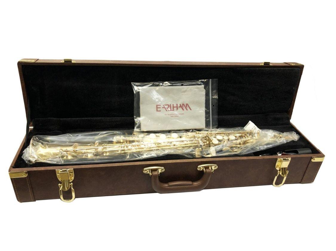 Earlham Sopran-Saxophon Saxofon Komplettset Mundstück Blättchen mit Koffer