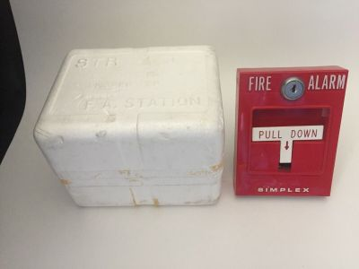 *New* Simplex 4251-31 Fire Alarm Pull Station for Break Glass w/Box