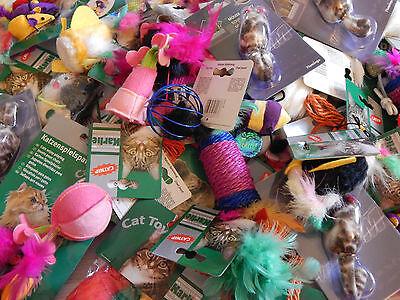 10 x Katzenspielzeug Spielzeugset St. 0,49€ Sonderpreis nur für kurze Zeit