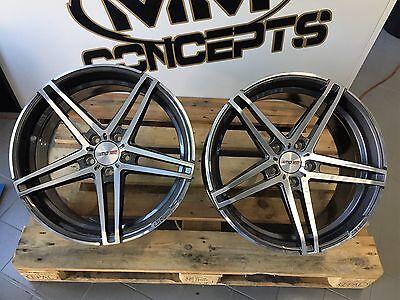 19 Zoll Motec Xtreme Concave Alu Felgen 5x108 grau poliert für Ford Focus ST RS