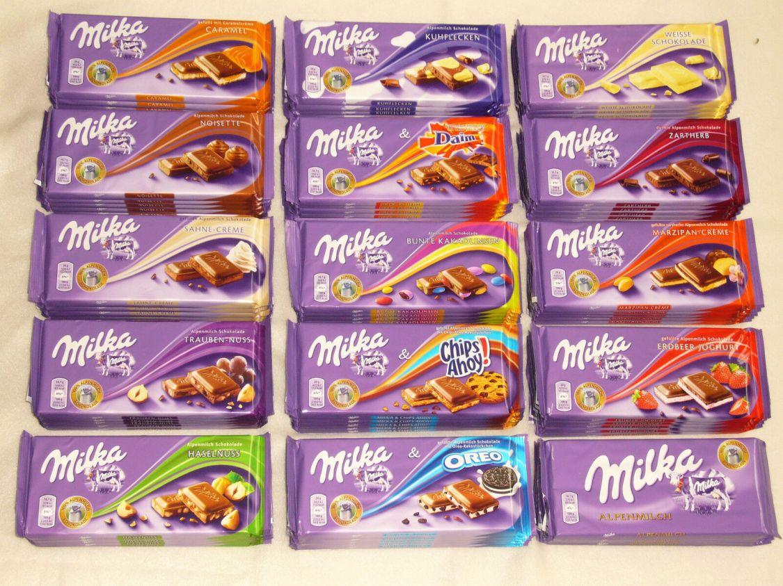 Stellen Sie Ihr Milka Schokoladenpaket aus 21 Milka Sorten selbst zusammen
