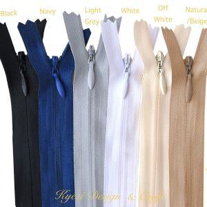 "5 10 15 pcs Invisible Zippers - 9"", 12"", 14"", 16"", 18"", 22""  inch zipper, #3"