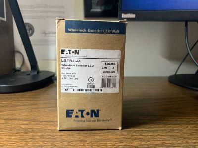 *NIB* *New* Eaton Wheelock LSTR3-AL Fire Alarm Exceeder LED Strobe Alert