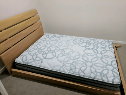 Double Bed Bedside Drawers Mattress