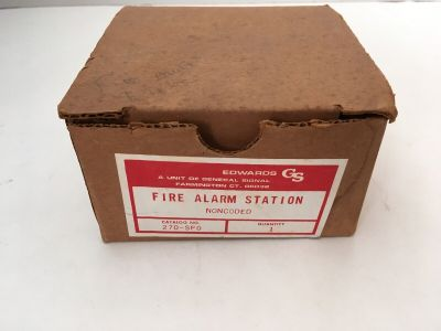 *NIB* *New* *Vintage* EST Edwards 270-SPO Fire Alarm Pull Station