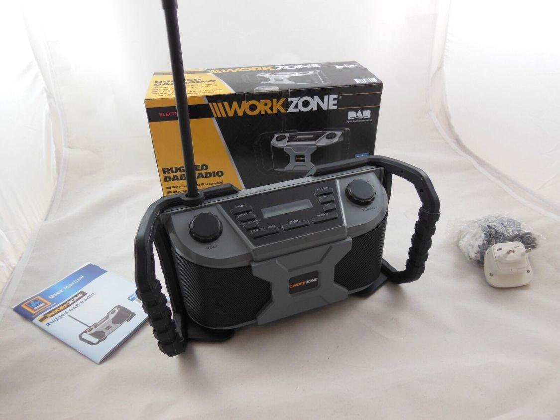 Baustellen Radio mit DAB Outdoor Radio tragbarer Lautsprecher Workzone SRR-100