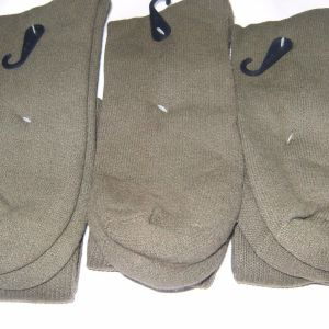 3-Pack Men Olive Drab US Made Military Boot Socks GI Army Anti-Fungal Green NYCO