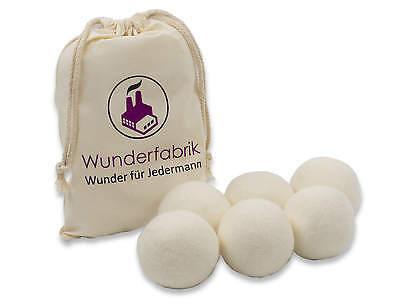 Trocknerbälle & Trocknerkugeln SOFT 100% echte Neuseeland-Wolle