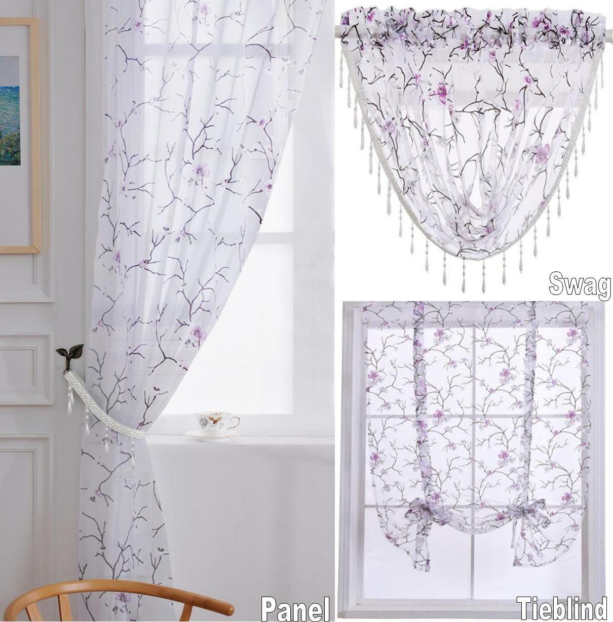 cherry blossom floral sheer organza