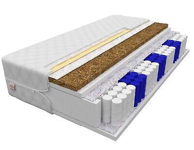 Matratze 80x200 HOME MAX 24 cm 7 Zonen H3 H4 Premium Taschenfederkern KOKOS neu