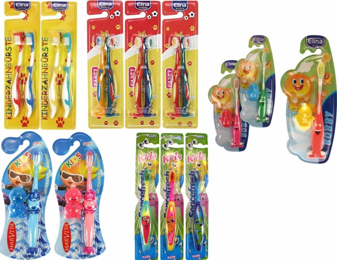 1 - 10 x (Stück) Kinderzahnbürste Zahnbürste Kinder Kids Saugnapf 5 Modelle