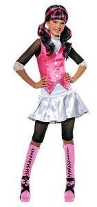 Girls Draculara Monster High Halloween Costume Dracula Fancy Dress S M L Child