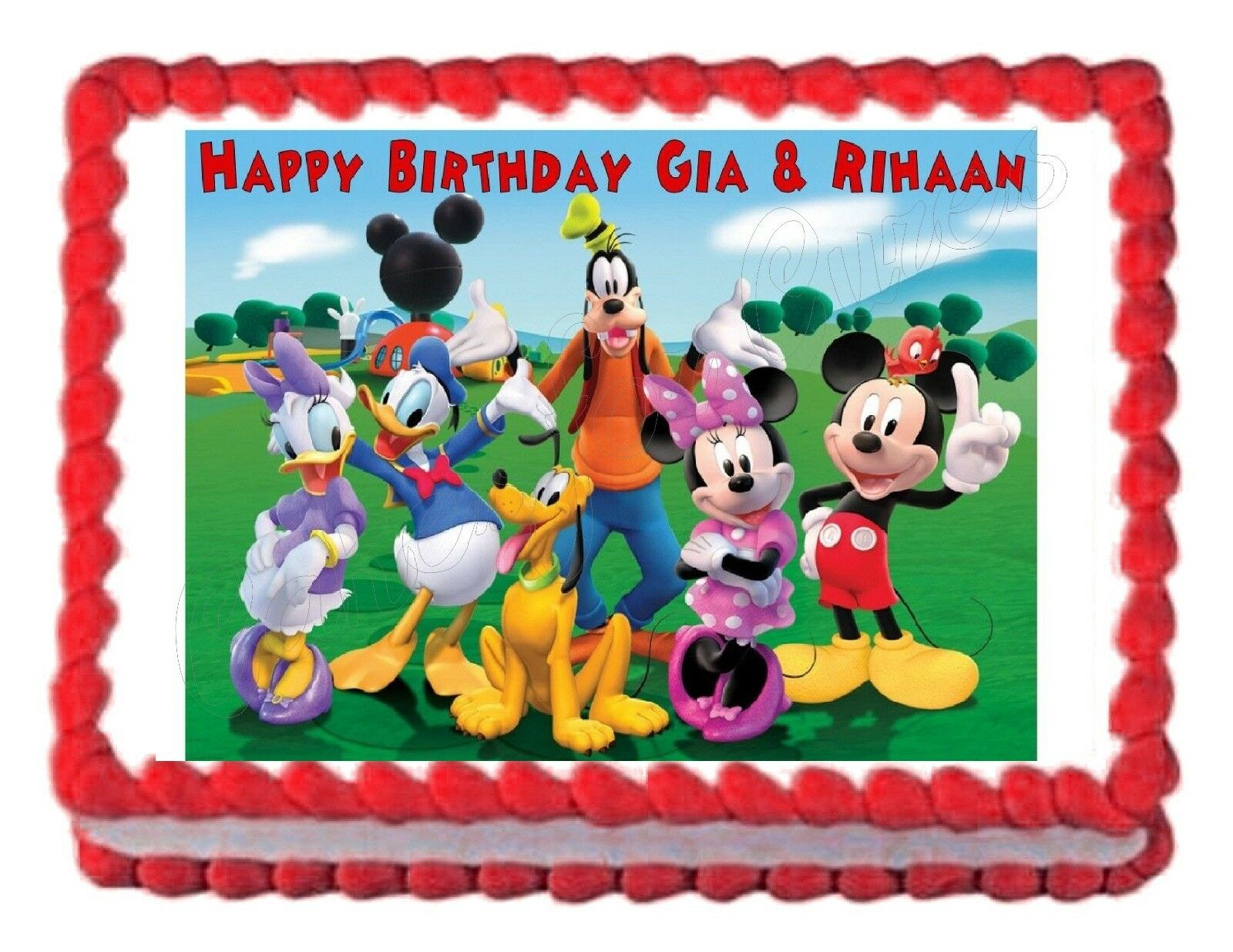 Mickey Mouse Clubhouse Party Edible Image Cake Topper