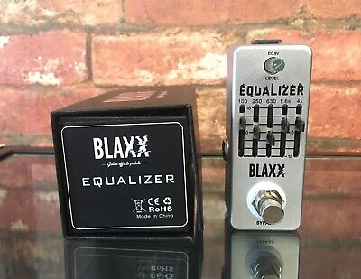 Stagg Blaxx BX−EQ 5B True Bypass 5 Band Graphic EQ Equalizer Pedal for Guitar