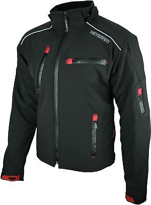 Heyberry Soft Shell Motorradjacke Textil Schwarz Gr. M bis 7XL
