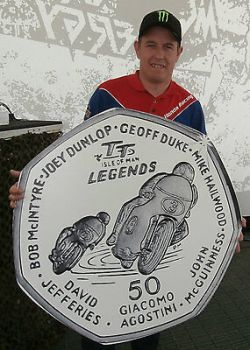 2015 ISLE OF MAN TT LEGENDS 50p COIN *FREE P&P* McGUINNESS DUNLOP HAILWOOD