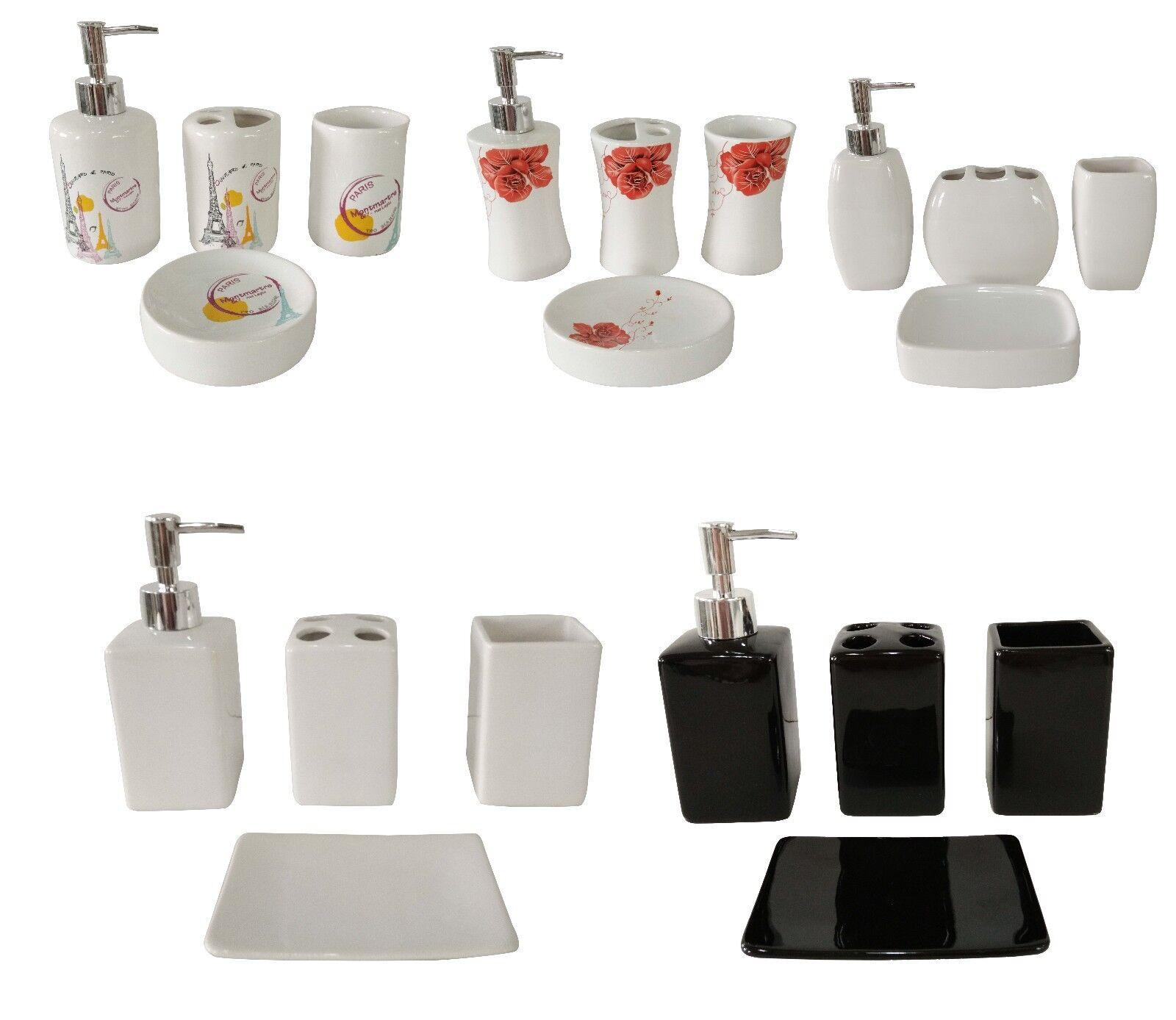 details sur fingey moderne 4 piece ceramique salle de bain accessoires bain kit