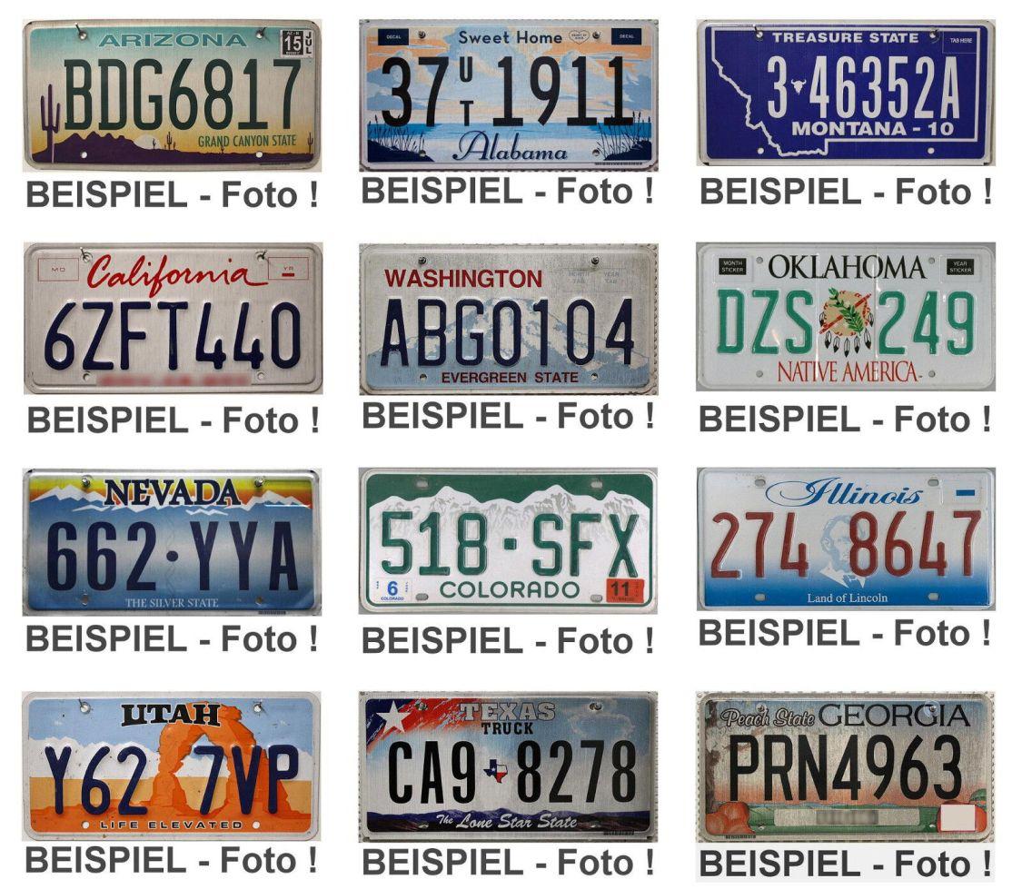 -4- USA Nummernschilder als SET ► US Kennzeichen Original KFZ Schilder ► AUSWAHL