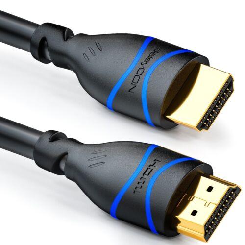 deleyCON 1,5m HDMI Kabel HDMI 2.0 kompatibel 4K UHD 2160p FULL HD 1080p ARC HDR
