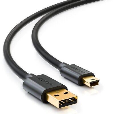 deleyCON 0,5m mini USB 2.0 Datenkabel - USB A-Stecker zu Mini B-Stecker