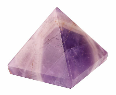 Amethyst Pyramide UNIKAT energetisiert Energiearbeit Yoga Meditation Heilstein
