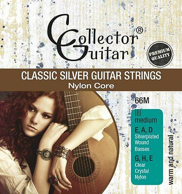 CollectorGuitar 66M Konzertgitarren-Saiten Classic Silver Guitar Strings Nylon