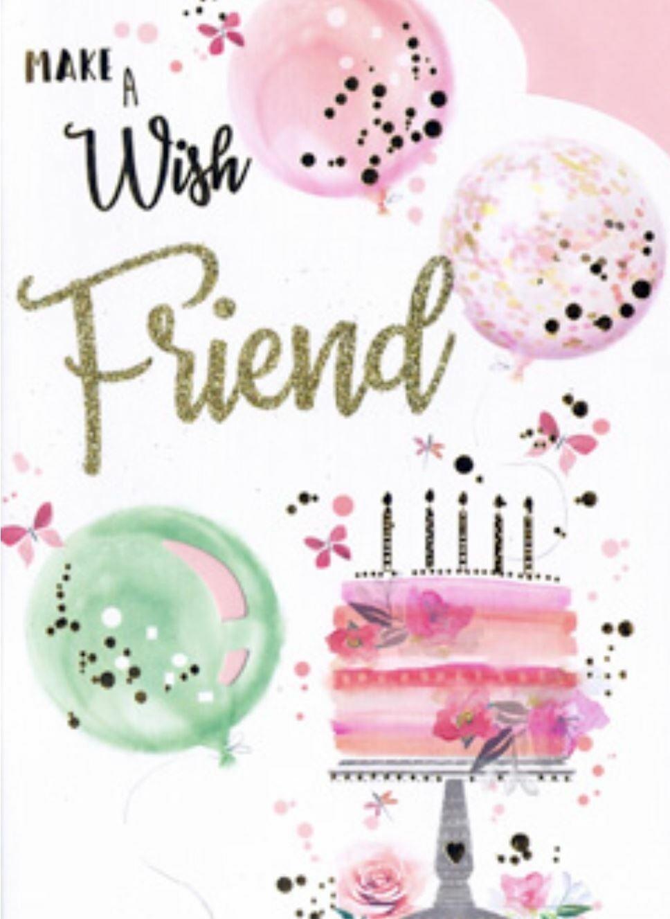 Open Female Friend Birthday Card Happy Birthday By Love Wishes Free P P Ebay