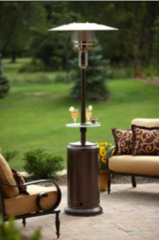 details about hiland az 48 000 btu bronze stainless steel patio heater with table hlds01 cg