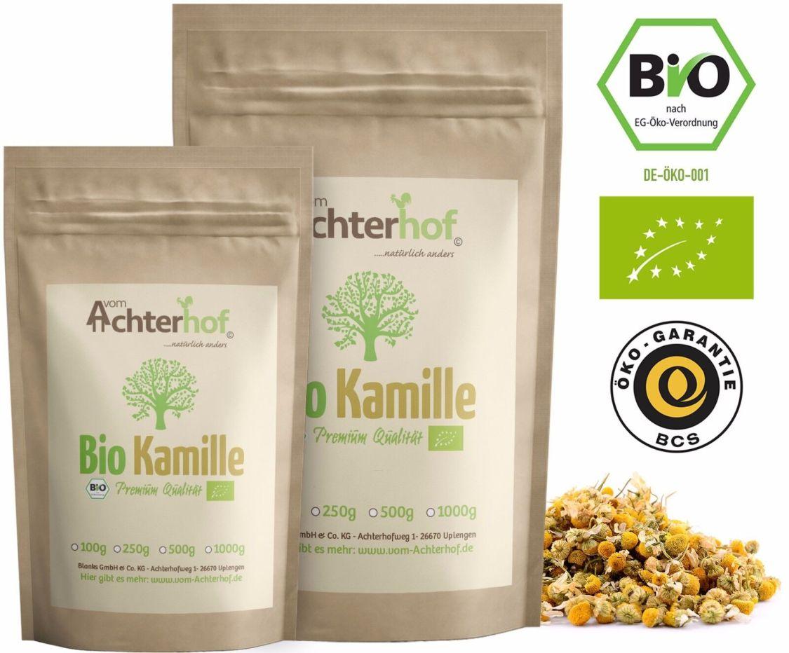 Kamillentee Bio lose 250g Kamillenblüten-Tee getrocknet Kamille aus kbA