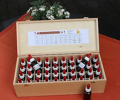 (€ 15,49/100ml) Bachblüten Set 10ml m. Pipette + Holzbuchenbox