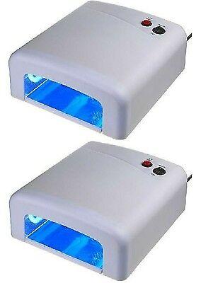 2 Stück UV Lichthärtungsgerät UV Lampe Nägel Lichthärtegrät inkl. 4 Röhren WEIß