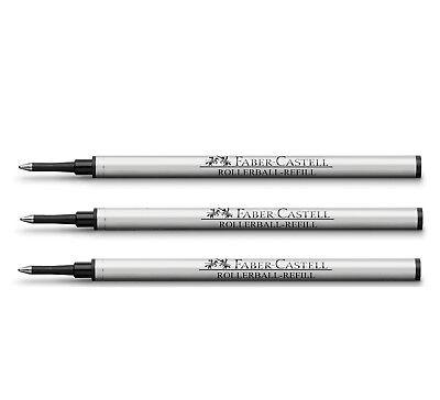 Faber-Castell  Tintenrollermine Ersatz Schwarz 3er