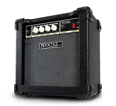Electric Bass Amplifier Combo Practice Amp 6.5'' Speaker 3-Band EQ AUX Jack 15W