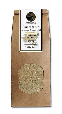 Grüner Kaffee gemahlen - Indien Robusta 500g - Green Coffee Abnehmen Diät