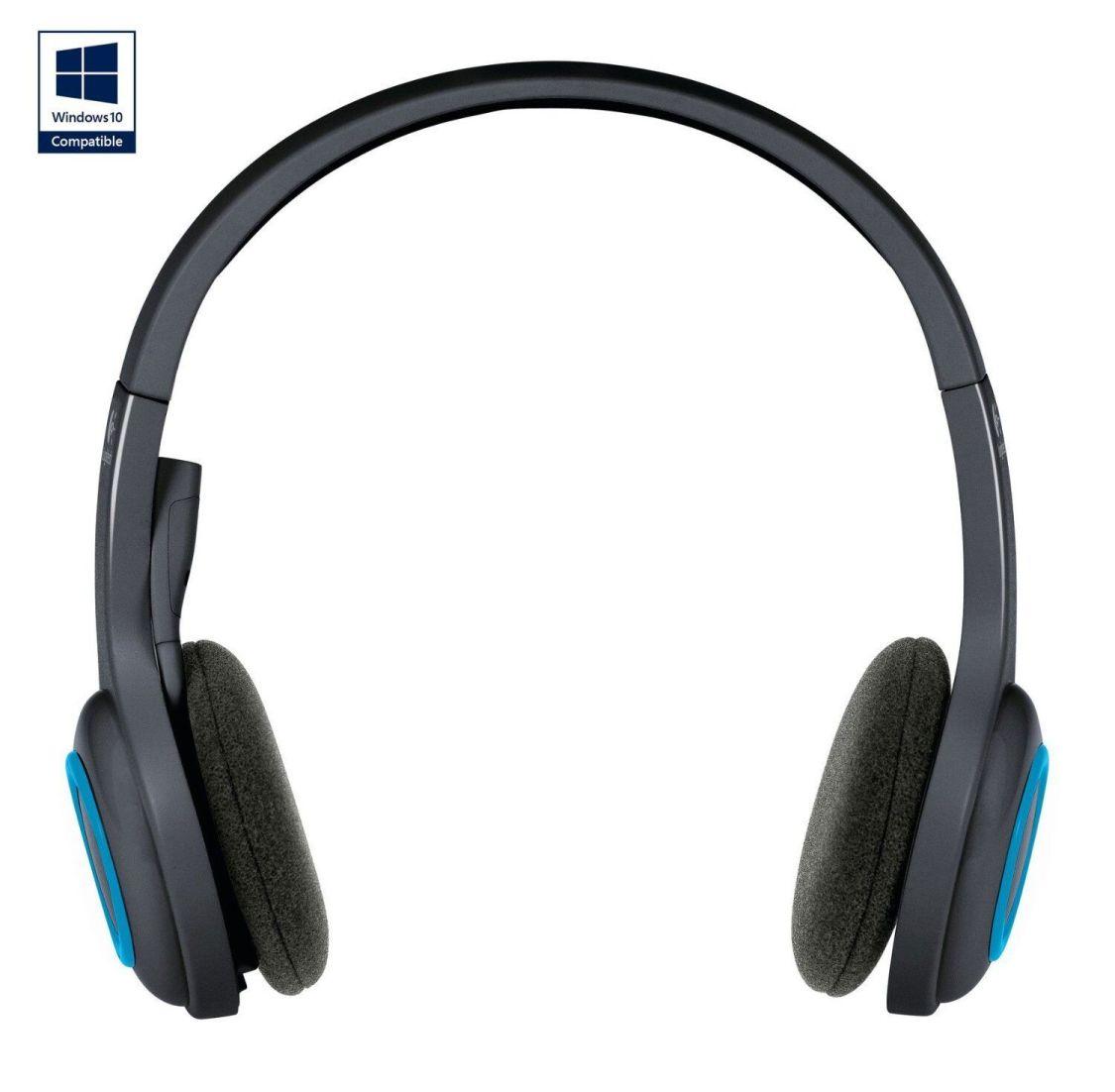 Logitech H600 Wireless Headset schnurlos schwarz-blau