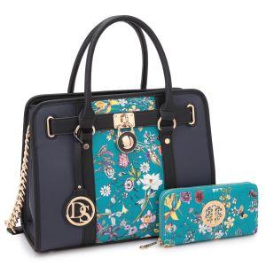 Dasein Women Top Handles Satchel Handbags Shoulder Bag Padlock Casual Purses