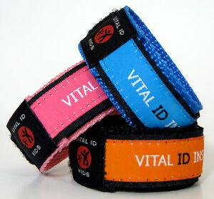 Child-Kids-ID-Wristband-Medical-Diabetic-Bracelet-ICE-Emergency ...