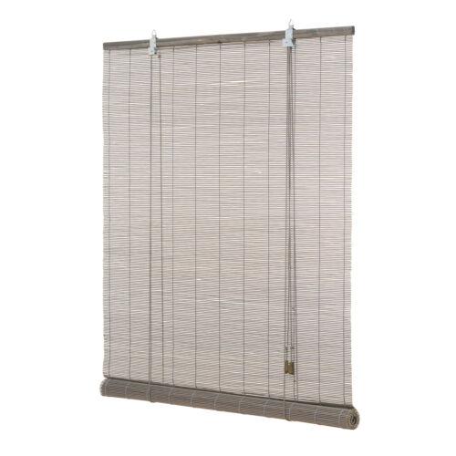Bambusrollo grau Rollo Bambus Afrika Stil Holzrollo Seitenzugrollo Sichtschutz