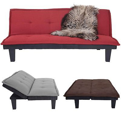 3er-Sofa HWC-C87, Couch Schlafsofa Gästebett Bettsofa Klappsofa 170x100cm