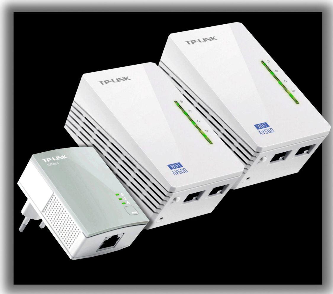 TP-LINK TL-WPA4220Kit AV500 WIFI WLAN Powerline Adapter Netzwerkadapte 3er SET