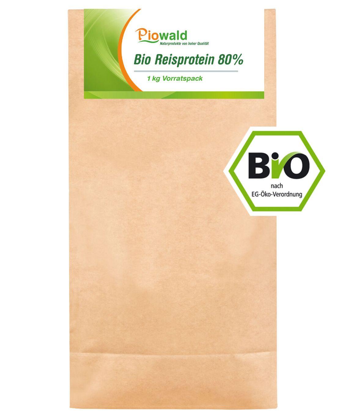 BIO Reisprotein 80% - 1 kg Vorratspack (19,90 €/Kg)