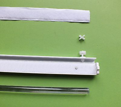 Aluminium Flächenvorhang Paneelwagen weiss für Schiebegardinen 60 cm + Zubehör