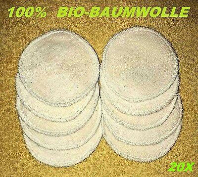20 Abschminkpads, Baumwolle Gesicht Make-up-Entferner Waschbar, Augenpads Pads