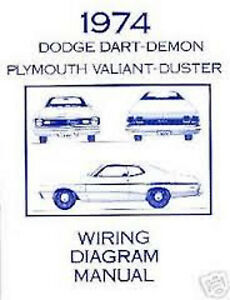 1974DodgeDartDemonWiringDiagramManual