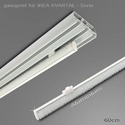 Paneelwagen für 4mm IKEA Schiene Kvartal 60cm Aluminium Gardinenschiene