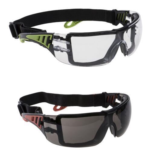 Schutzbrille Sicherheitsbrille inkl Kopfband Staub Arbeitsschutzbrille Sport Neu