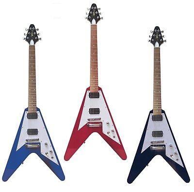 E-Gitarre im Pfeildesign, verschiedene Modelle / Farben, FV5 schwarz,rot,blau