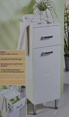 LivingArt Badezimmer Seitenschrank mit Soft-Close-Technik Schrank Badschrank NEU